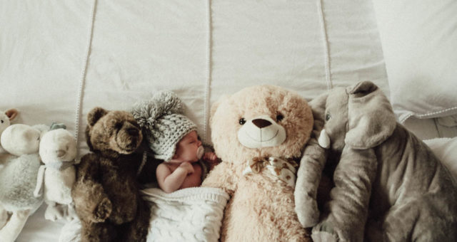 Billy and his friends I Newborn baby photography in the comfort of your own home